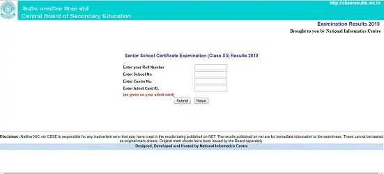 cbse 12th board result