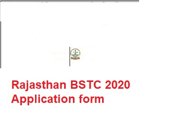 Rajasthan bstc 2020 Application form