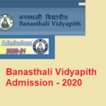 Banasthali Vidyapith Admission 2020: (Released) Application form , Counselling , Admission