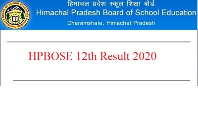 HPBOSE class 12th Result 2020