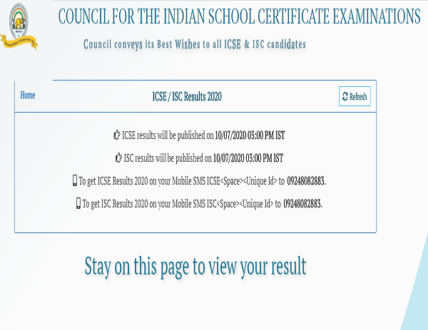 ICSE 10th , ISC 12th result 2020