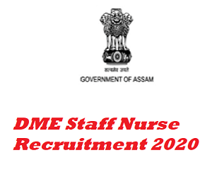 DME Staff Nurse Recruitment 2020