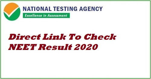direct link to check neet result 2020
