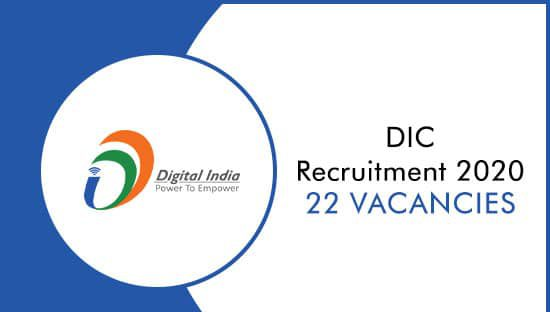 DIC Recruitment 2020