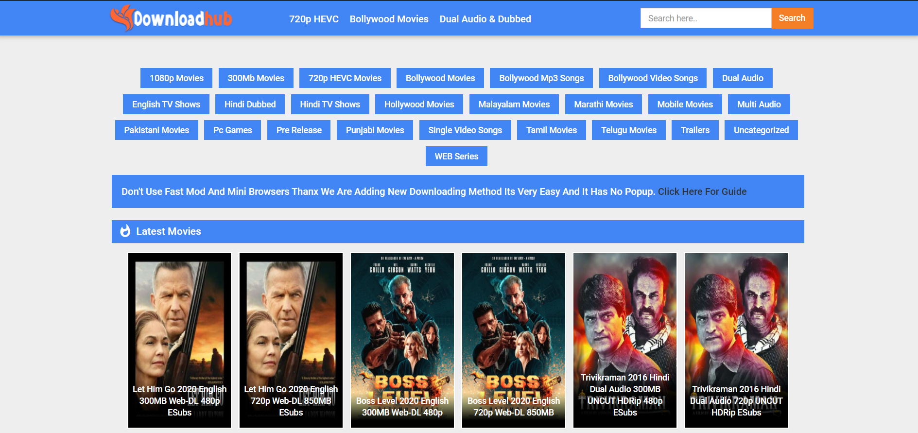 DownloadHub: HD Movies Download Website - Admission Guidance
