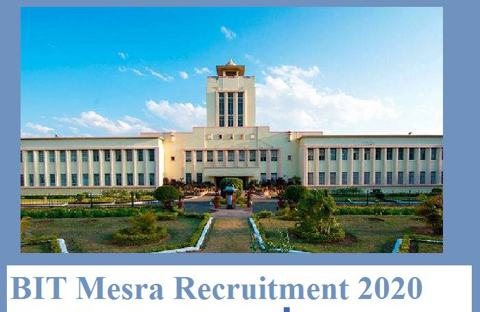BIT Mesra Recruitment 2021