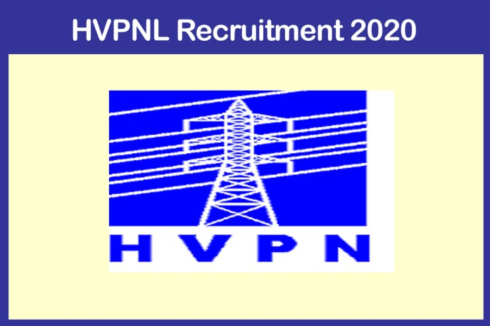 HVPNL Asst Engineer Recruitment 2020-21