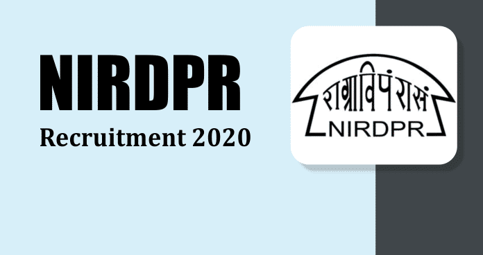 NIRD&PR Recruitment 2021
