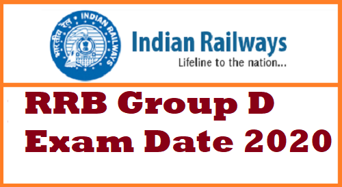 RRB Group D Exam Date 2020