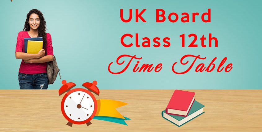 Uttarakhand Board class 12th Time Table 2021
