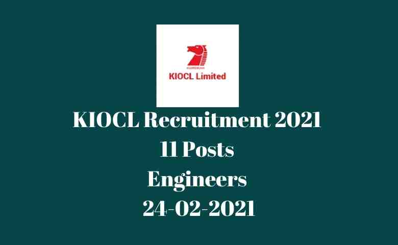 KIOCL Recruitment 2021